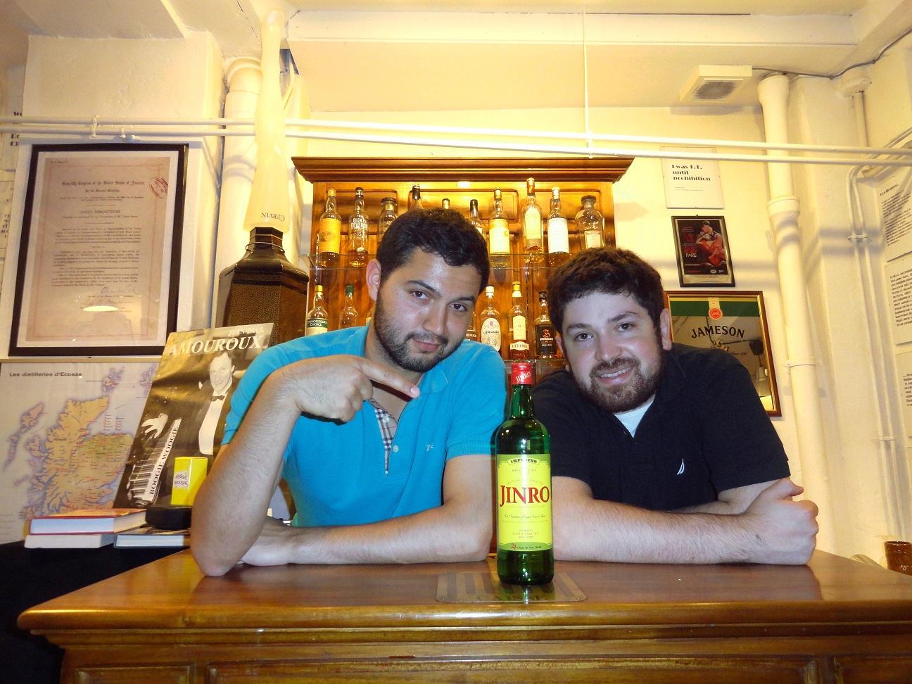 Juan Pablo, Maxime et une bouteille de Jinro