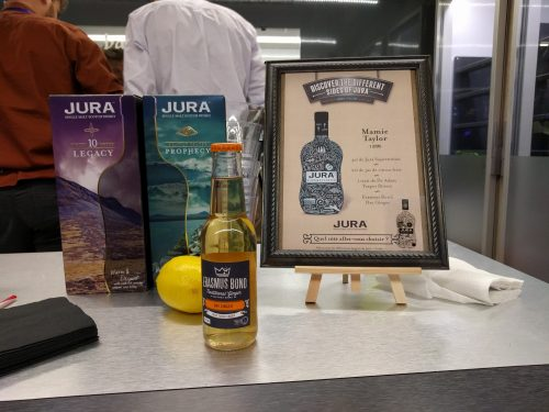Le stand Jura dans la Cocktail street