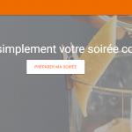 La page d'accueil de l'app