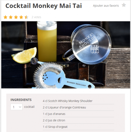 un mai tai au monkey shoulder