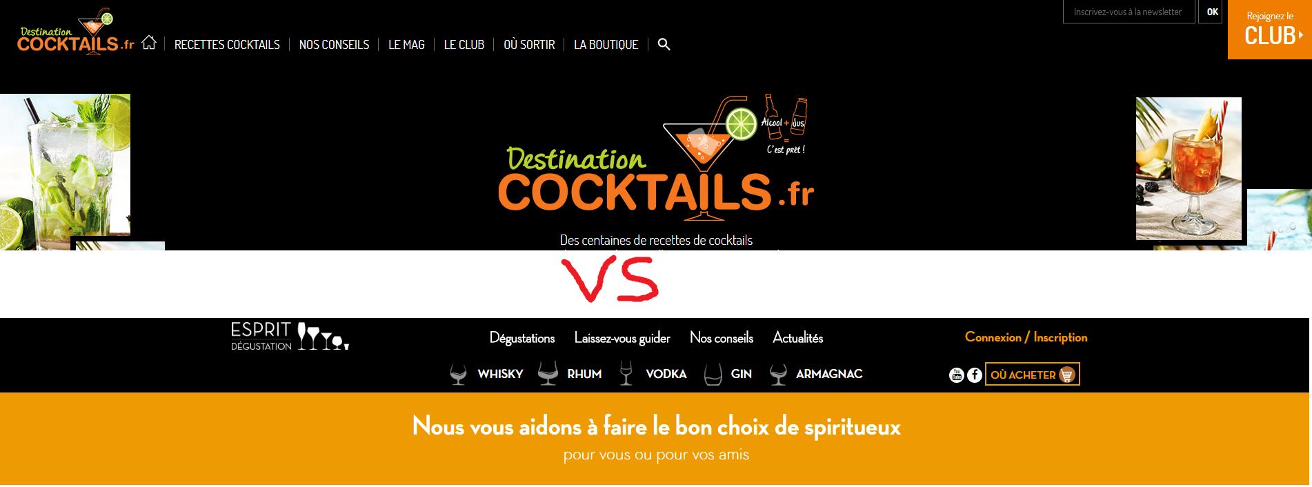esprit degustation vs destination cocktail