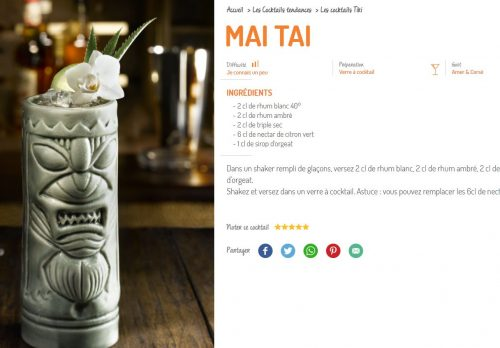 le mai tai par destination cocktail