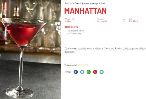 le manhattan destination cocktail