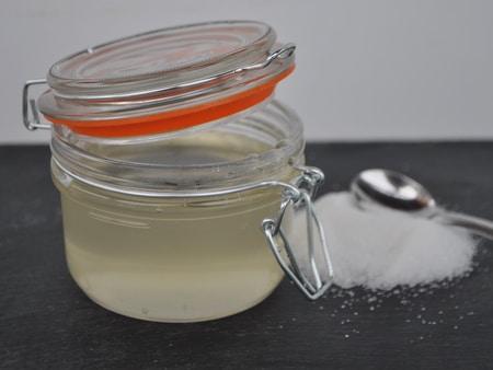 réalisation d'un sirop simple de sucre