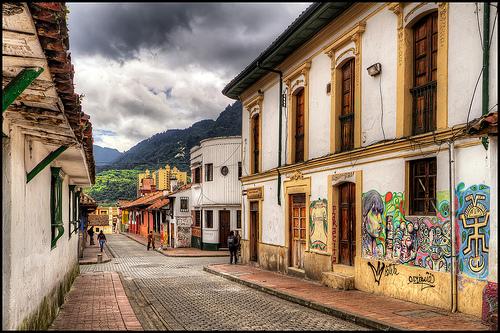 Le quartier de la Candelaria à Bogota