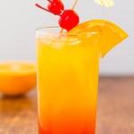 Un verre de tequila sunrise
