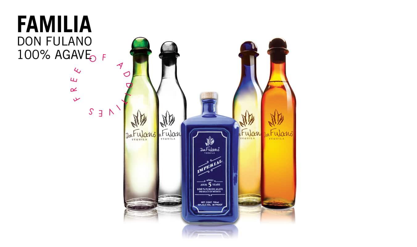 Don Fulano, mention spéciale à la bouteille de Reposado jaune et bleue, une beauté !