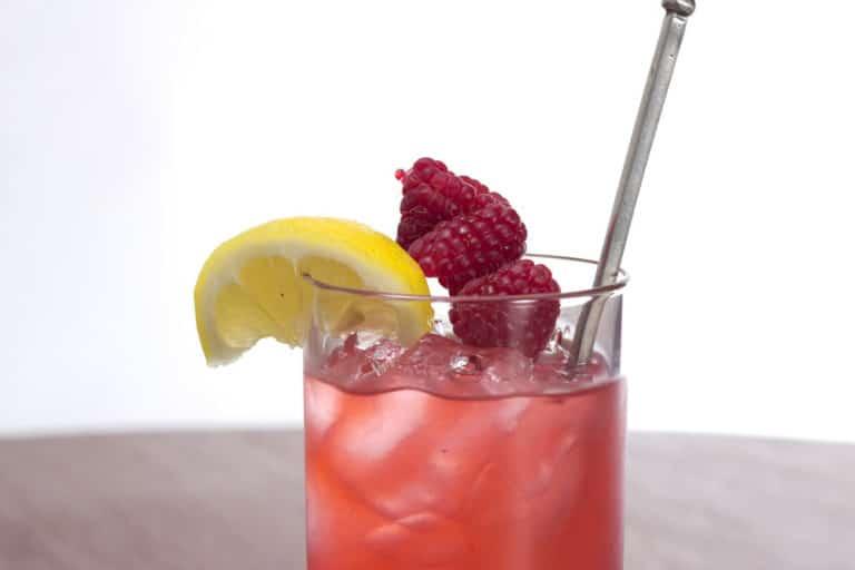 Un verre de Raspberry Collins