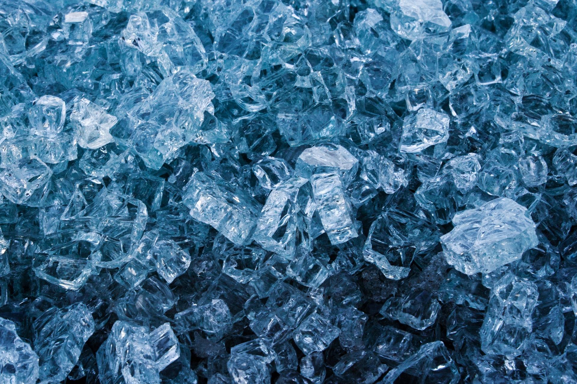 gros plan sur glace pilée