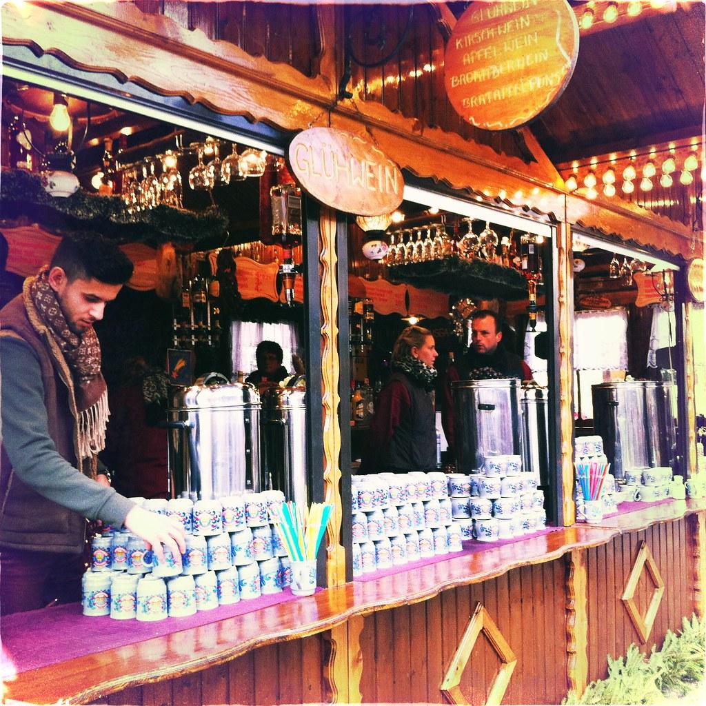 Un stand de vin chaud en Allemagne