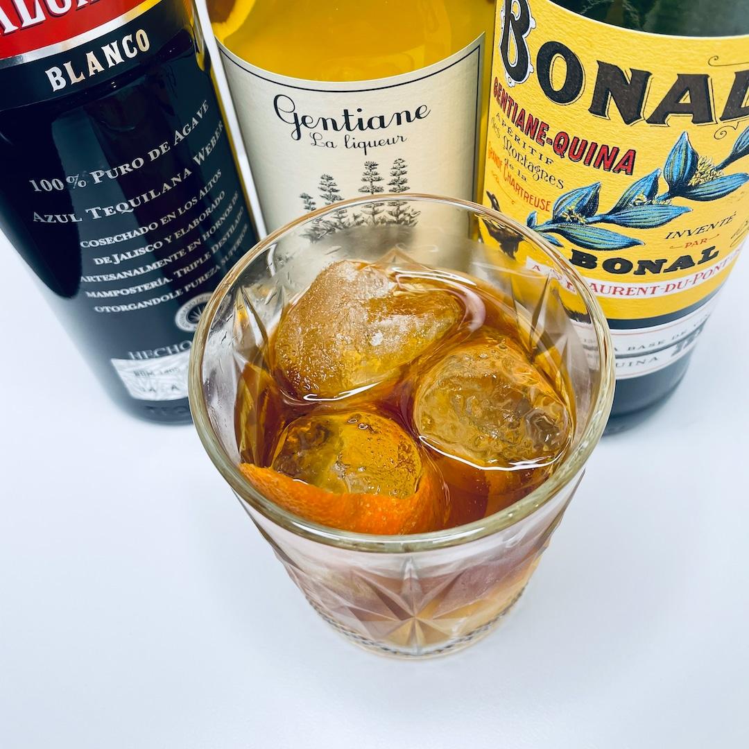Un White Negroni, version à la tequila, et ses ingrédients