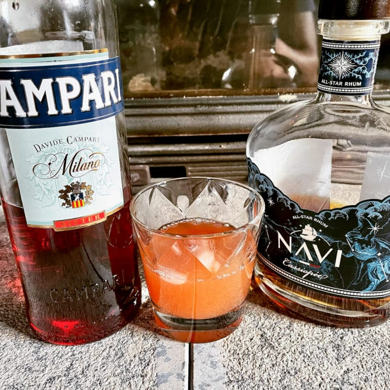 Un Jungle Bird, cocktail à base de rhum et de Campari